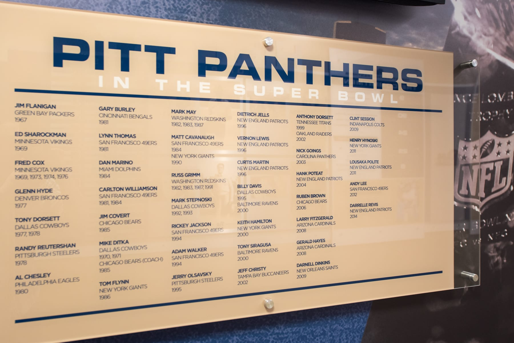 Pitt Panthers in the Super Bowl (Photo credit: Dave DiCello)